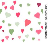 seamless  pattern with heart.... | Shutterstock .eps vector #564098104