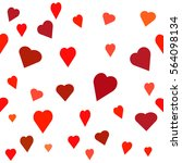 seamless  pattern with heart.... | Shutterstock .eps vector #564098134
