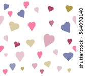 seamless  pattern with heart.... | Shutterstock .eps vector #564098140