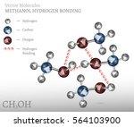 methanol molecule hydrogen... | Shutterstock .eps vector #564103900