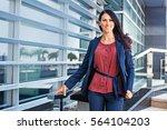 confident business woman... | Shutterstock . vector #564104203