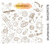 astronomy hand drawn... | Shutterstock .eps vector #564109378
