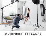 professional photo shooting at... | Shutterstock . vector #564113143