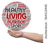 concept or conceptual healthy... | Shutterstock . vector #564113440