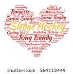 sledge hockey. word cloud ... | Shutterstock .eps vector #564113449