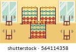 gym 01 flat colorful... | Shutterstock .eps vector #564114358