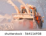 snow truck cleaning snow from...   Shutterstock . vector #564116938