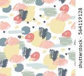 pastel calligraphic grunge... | Shutterstock .eps vector #564119128