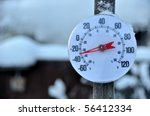 Cold Weather Thermometer - stock photo
