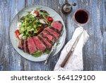 wagyu prime rib steak with... | Shutterstock . vector #564129100