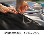 hands tailor. | Shutterstock . vector #564129973