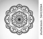 vector abstract flower mandala. ... | Shutterstock .eps vector #564132064