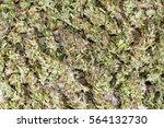 dry green organic cannabis buds ... | Shutterstock . vector #564132730