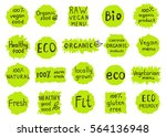 set  of  100  organic  natural  ... | Shutterstock .eps vector #564136948