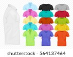 realistic vector men t shirt... | Shutterstock .eps vector #564137464