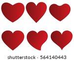 red heart vector icon... | Shutterstock .eps vector #564140443