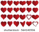 red heart vector icon... | Shutterstock .eps vector #564140506