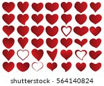 red heart vector icon... | Shutterstock .eps vector #564140824