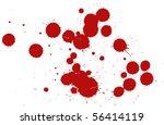 set of blood drops   Shutterstock .eps vector #56414119