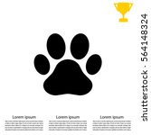 paw print icon. vector | Shutterstock .eps vector #564148324
