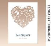 card with openwork heart with... | Shutterstock .eps vector #564148786