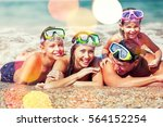 beach. | Shutterstock . vector #564152254