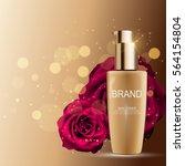 skin toner bottle tube template ... | Shutterstock .eps vector #564154804