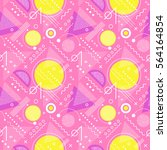 seamless 1980s inspired graphic ... | Shutterstock .eps vector #564164854