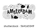 Hand Drawn Label With Amsterda...