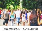 lots of people are walking in... | Shutterstock . vector #564168190