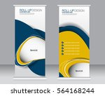 roll up banner stand template.... | Shutterstock .eps vector #564168244