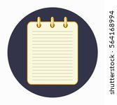icon of the yellow notepad on... | Shutterstock .eps vector #564168994