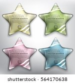 abstract vector banner set of 4.... | Shutterstock .eps vector #564170638