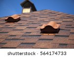 shingles on the roof with... | Shutterstock . vector #564174733