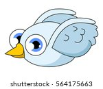 adorable cute and happy little... | Shutterstock .eps vector #564175663