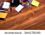 set of stationery for office ... | Shutterstock . vector #564178240