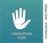 palm icon vector. flat simple... | Shutterstock .eps vector #564178408