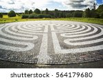 gothic labyrinth from black and ... | Shutterstock . vector #564179680