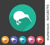 kiwi bird icon flat web sign...   Shutterstock .eps vector #564180793