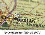 closeup of austin  texas on a... | Shutterstock . vector #564181918