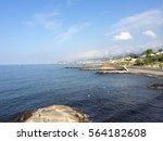 scenic beach in italy | Shutterstock . vector #564182608