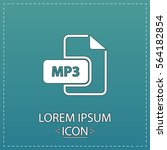 mp3 icon vector. flat simple... | Shutterstock .eps vector #564182854