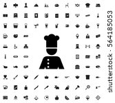 chef icon illustration isolated ... | Shutterstock .eps vector #564185053