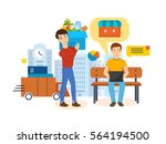 full product acquisition cycle  ... | Shutterstock .eps vector #564194500