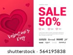 beautiful booklet with the sale ... | Shutterstock .eps vector #564195838