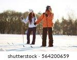 winter recreation   Shutterstock . vector #564200659