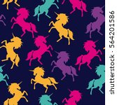 seamless colorful pattern of... | Shutterstock .eps vector #564201586