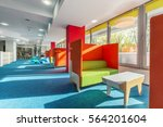 library lounge area with green... | Shutterstock . vector #564201604