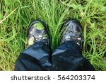 close up of dirty and wet... | Shutterstock . vector #564203374