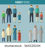 family icons set. traditional... | Shutterstock .eps vector #564220234